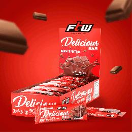 Delicious Bar FTW Caixa com 12 un 480g - Sabor Chocolate - FTW