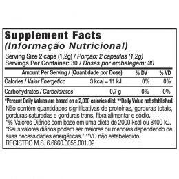 MACA PURE (100% MACA PERUANA) BLACK SKULL - 60 CAPS - TABELA NUTRICIONAL